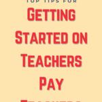 Getting Started on TeachersPayTeachers